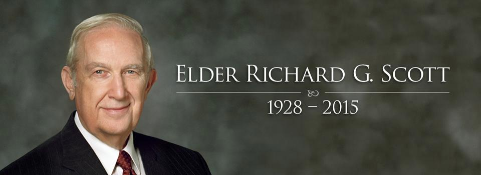 You Are Dearly Missed, Elder Richard G. Scott