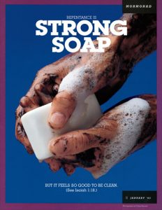 Repenting from sin is like using a strong soap