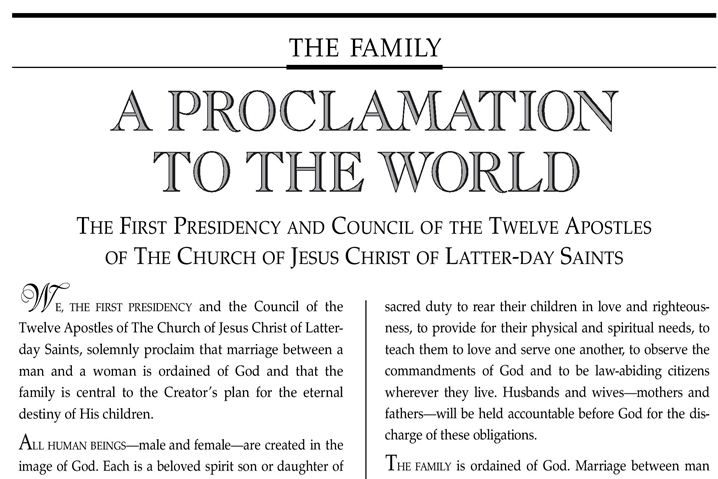 A Proclamation and a Blueprint from God