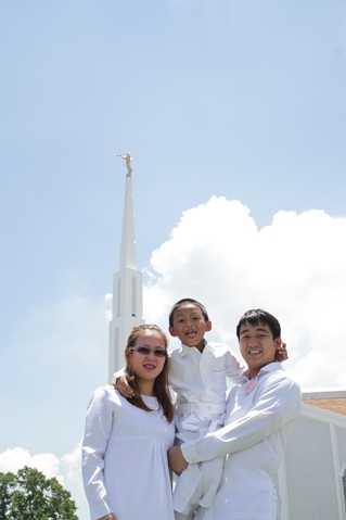 Mormons are always happy in the temple.