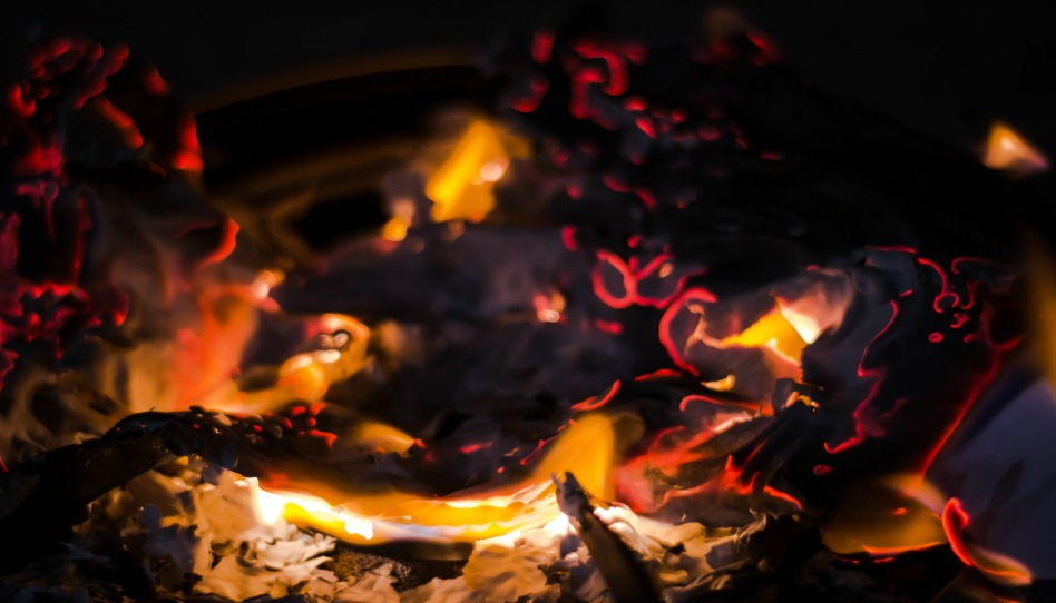 coals after the fire