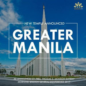 New Temple in Manila announcement